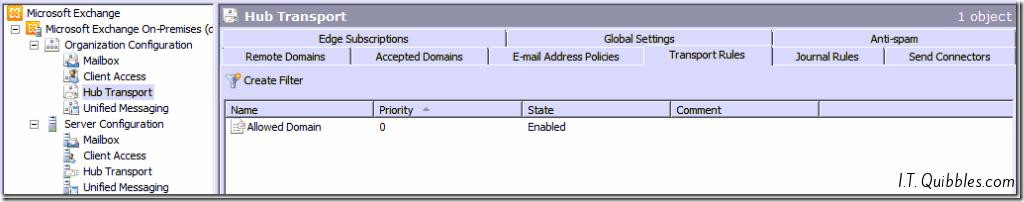 Add domain to Whitelist in Exchange 2010
