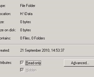 Hidden folder – Greyed out attribute