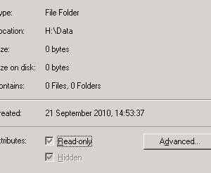 Hidden folder – Greyed out attribute