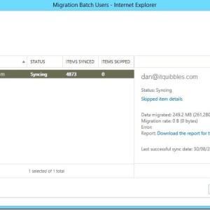 Exchange 2013 mailbox migration stuck syncing StalledDueToCI